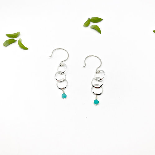 INES  Amazonite Drop Earrings