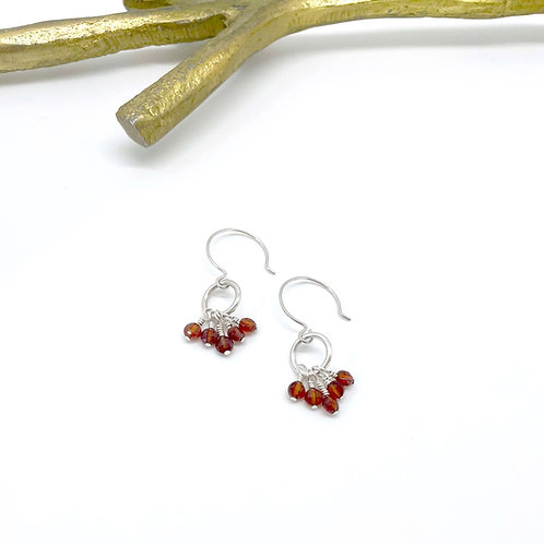 VIVIAN Garnet Hook Earrings
