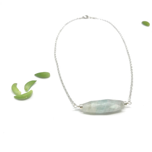 SOPHIE Aquamarine Short Collar Necklace