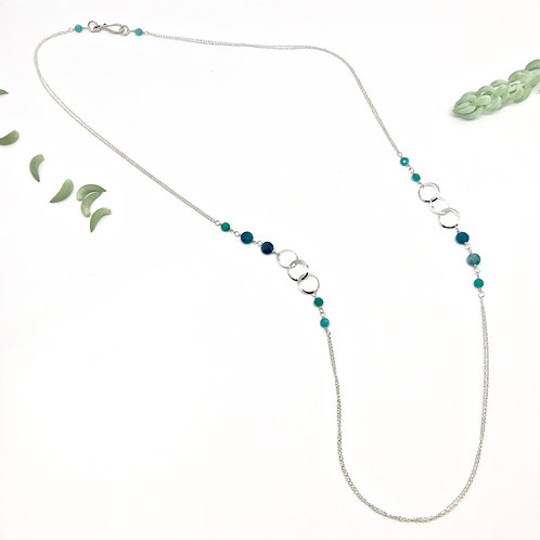 INES  Amazonite XLong Necklace
