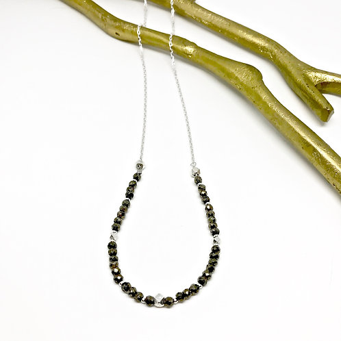 SIMONE Pyrite XLong Necklace