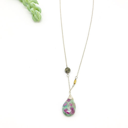 SAM  Ruby Fuschite Necklace