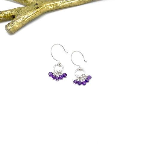 VIVIAN Amethyst Hook Earrings
