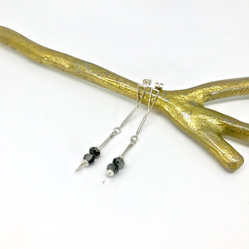 EMMA Tourmalinated Quartz Earrings