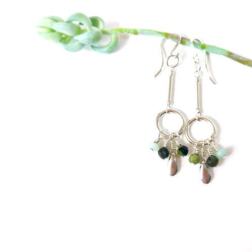 CAMILLE Green Tourmaline Earrings