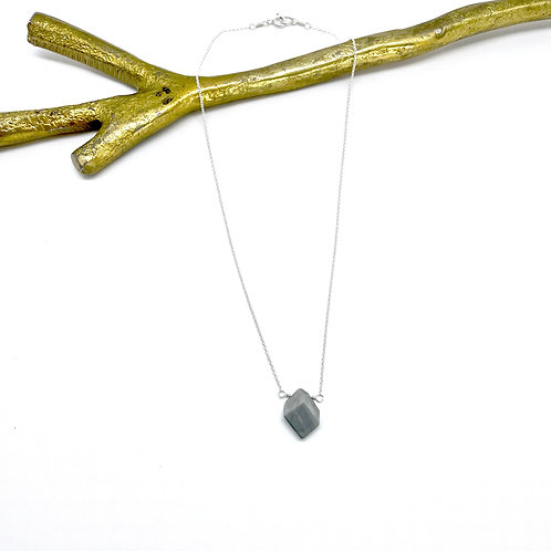 MAX Silver Cat's Eye Mid Necklace