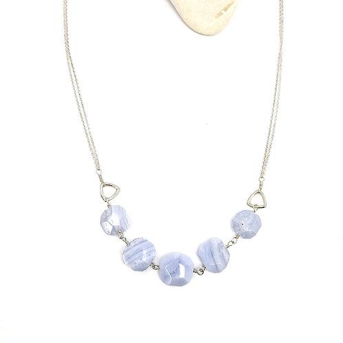 LOU Blue Lace Agate Necklace
