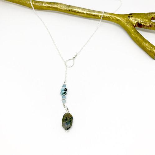 TORI Labradorite Lariat Necklace