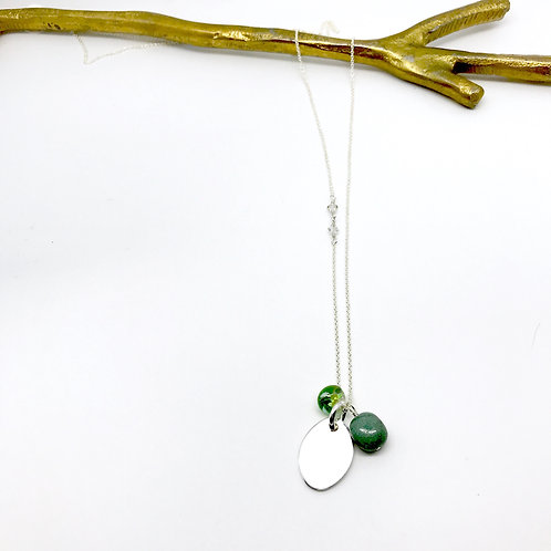 Trinket XLong Chrysocolla Necklace