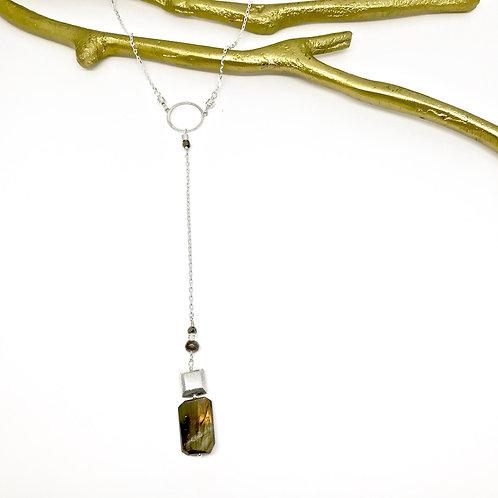 SIMONE Labradorite Y Necklace