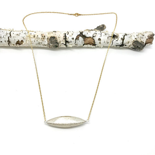 GEOMETRICS XL Silver Rice Rope Chain Necklace