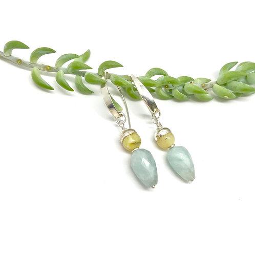 IRIS Aquamarine Earrings