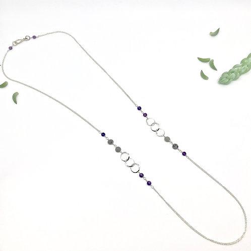 INES  Amethyst XLong Necklace