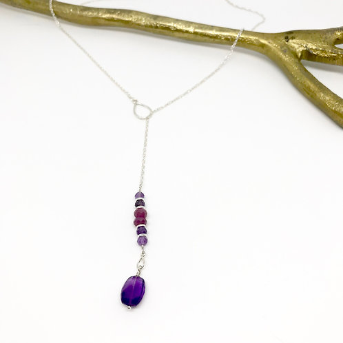 TORI Amethyst Lariat Necklace
