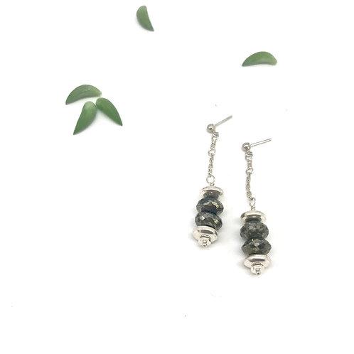 HELENE Pyrite Drop Earrings