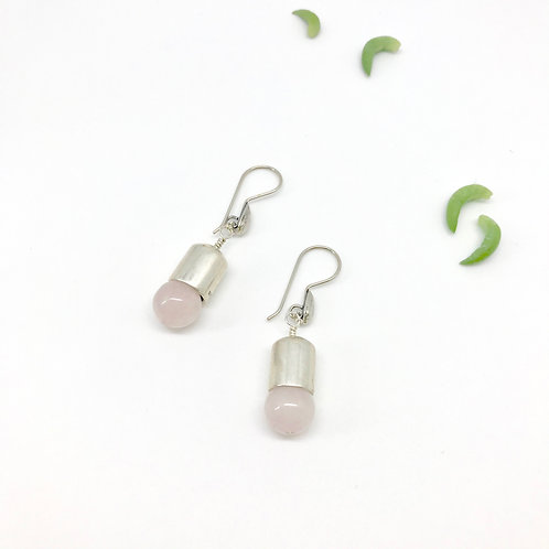 IVY Rose Quartz Earrings