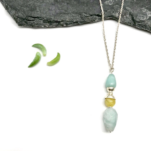 IRIS Aquamarine Drop Necklace