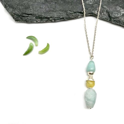 IRIS Aquamarine Drop Necklace