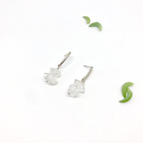 FRIDA Quartz Stacked Earrings