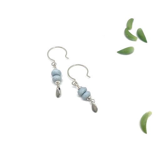 EMMA Blue Opal Earrings
