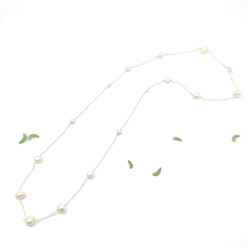 GRACE White Pearl XLong Necklace