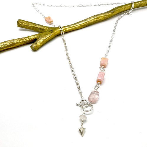 HARRY Pink Opal Rope Necklace