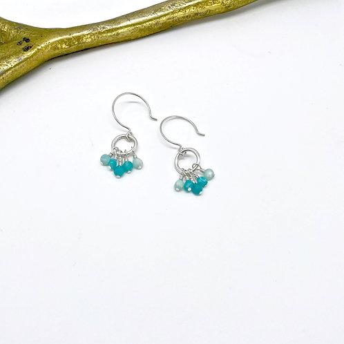 VIVIAN Amazonite Hook Earrings