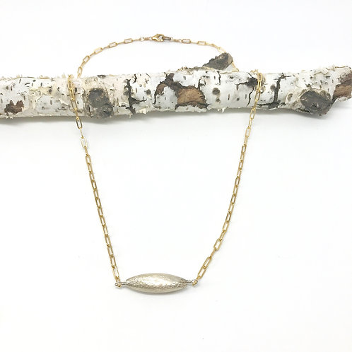 GEOMETRICS Med Silver Rice Cable Chain Necklace