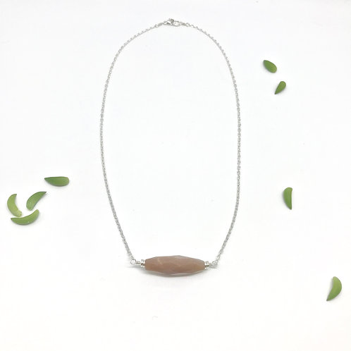 SOPHIE Chocolate Moonstone Mid Collar Necklace