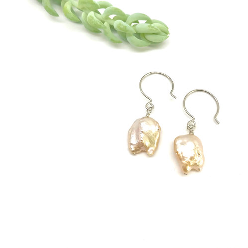 JULES Pink Baroque Pearl Earrings