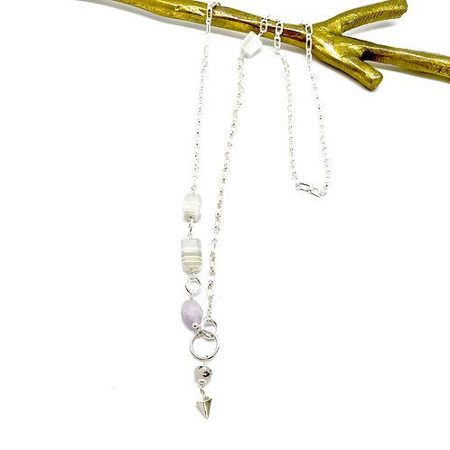 HARRY White Agate Rope Necklace