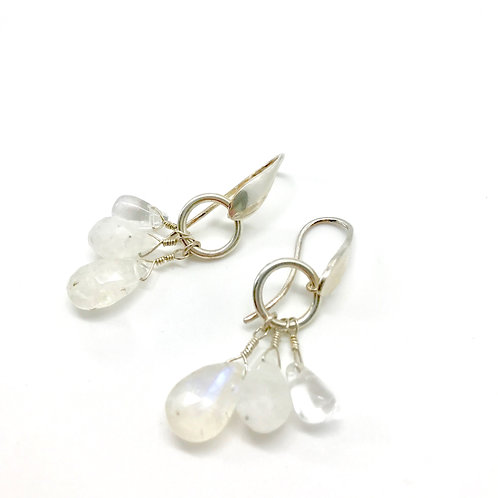 FIONA Moonstone Drop Earrings