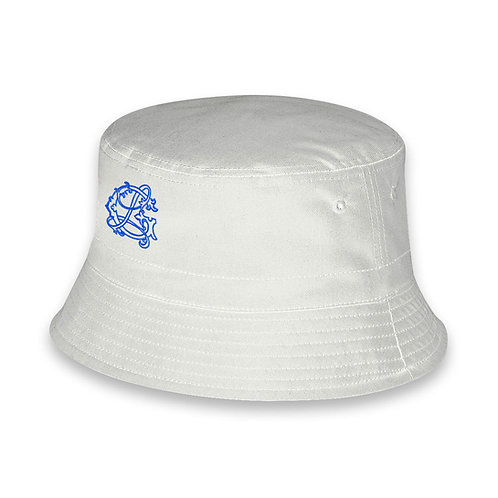 Bianco con logo blu