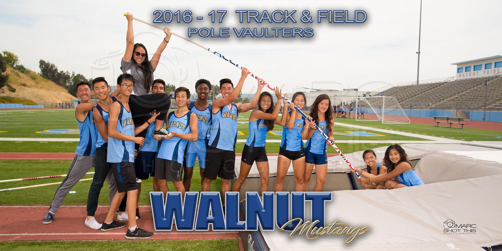 walnut track & field pole vaulters