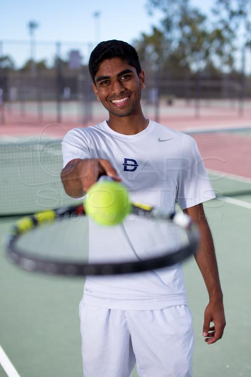 tennis player & racket