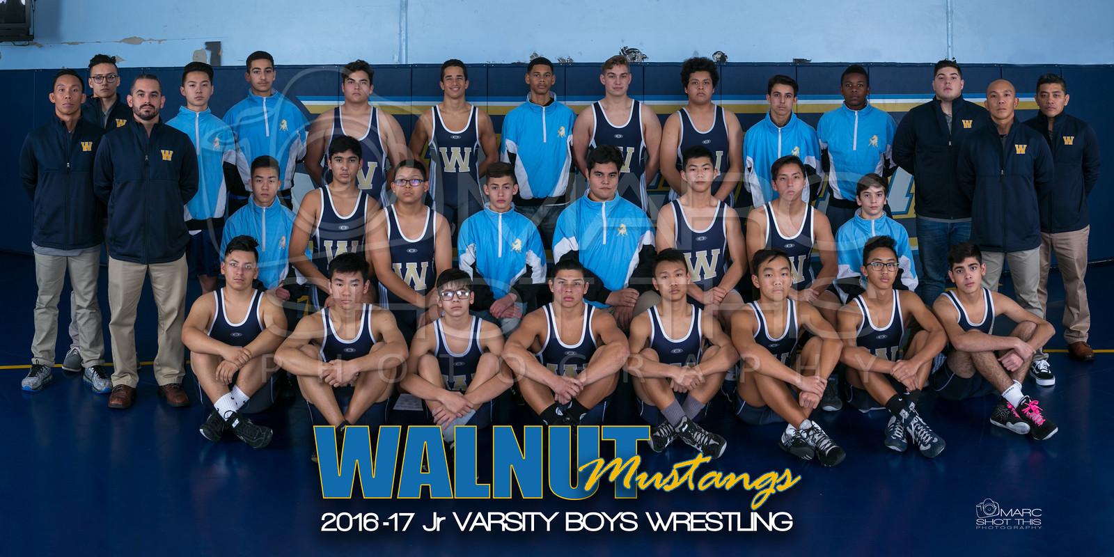 walnut boys restling team