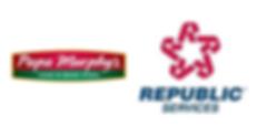 Papa Murphy's & Republic Services logos