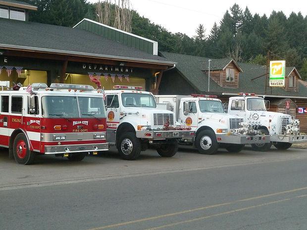 Fire Hall & Trucks