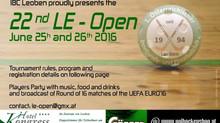 22. LE-Open 25. bis 26. Juni 2016