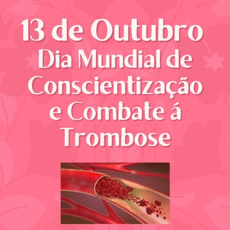 13 de Outubro - Dia Mundial da Conscientização e Combate à Trombose