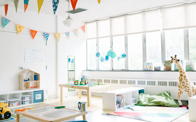 Our classrooms are organized by 8 defined play areas based on development.