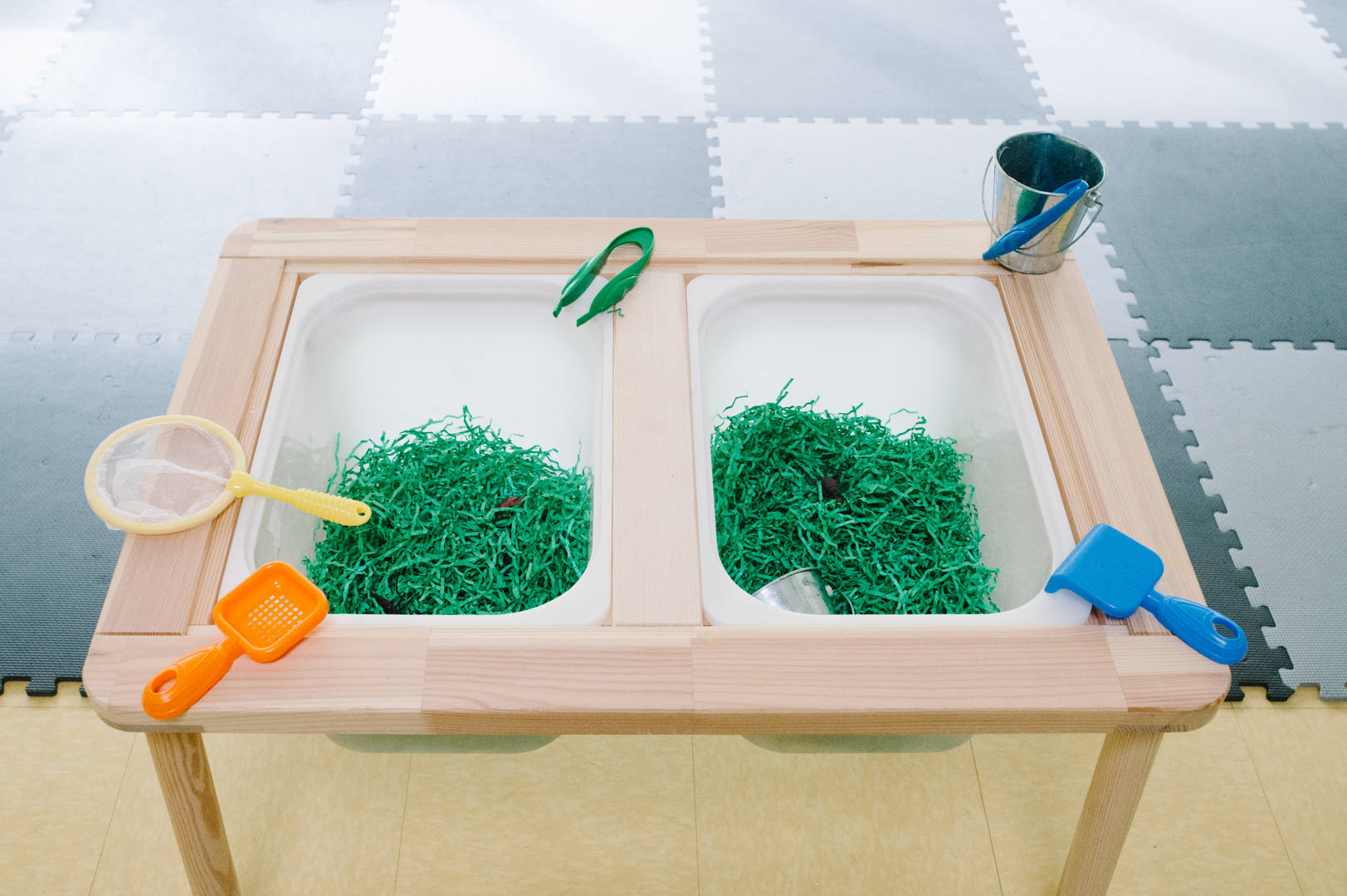 Our sensory materials and tools rotate every 3 weeks.