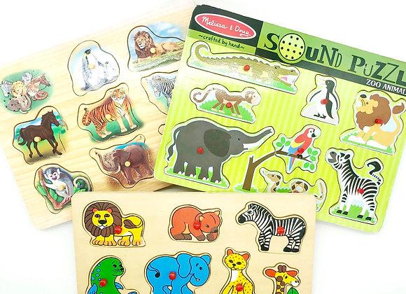 Peg Puzzle Pack - Animals