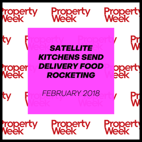 SATELLITE KITCHENS SEND DELIVERY FOOD ROCKETING