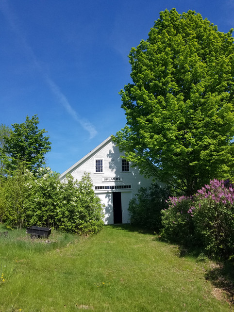 Historic New England attached barn