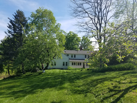 Inn from the backyard with apple and pear trees