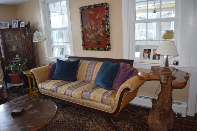 Sitting room with antique couch