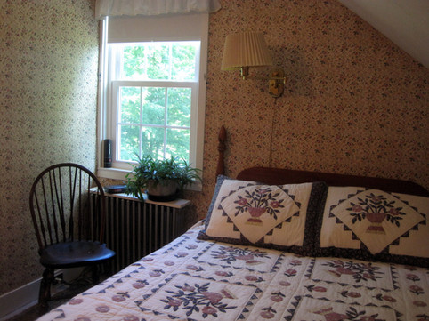Guest room 6 with view of fields, pond