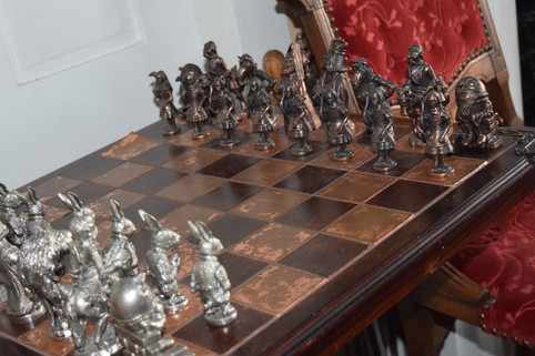 Handcrafted local artisan chess set