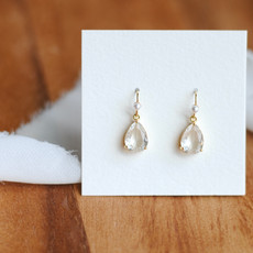 Crystal Drop with Pearl Accent Dangle Earrings